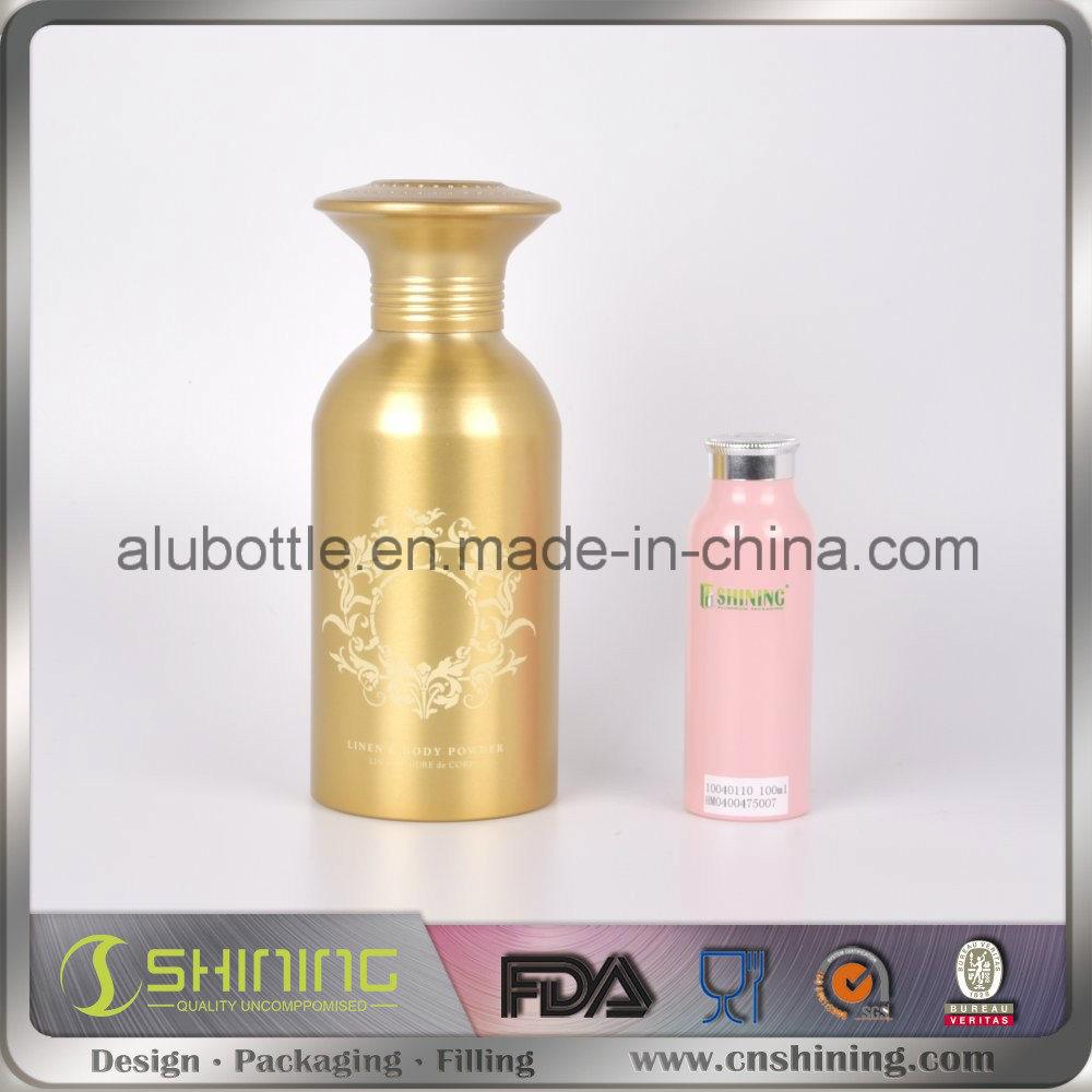 Pink Aluminum Talc Powder Bottle