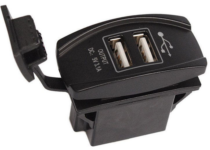 New 4 Colors Dual USB Port 5V Input DC 12V Car Charger Carling Rocker Switch for Landcruiser Pardo Nissan