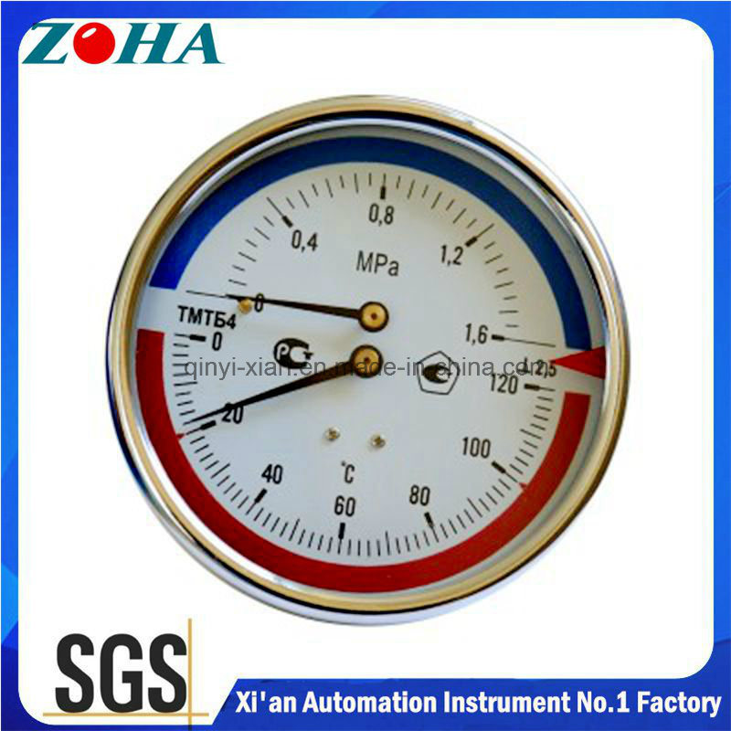 100mm Diameter Stem Length 64mm Pressure & Temperature Gauge