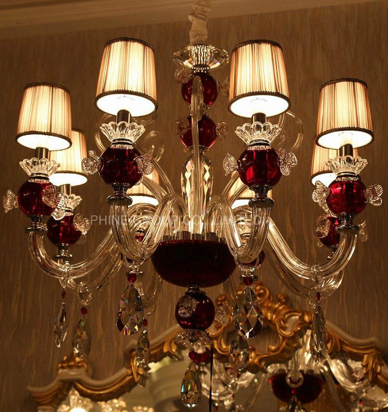 Phine Modern Crystal Decoration Pendant Fixture Lamp, Chandelier