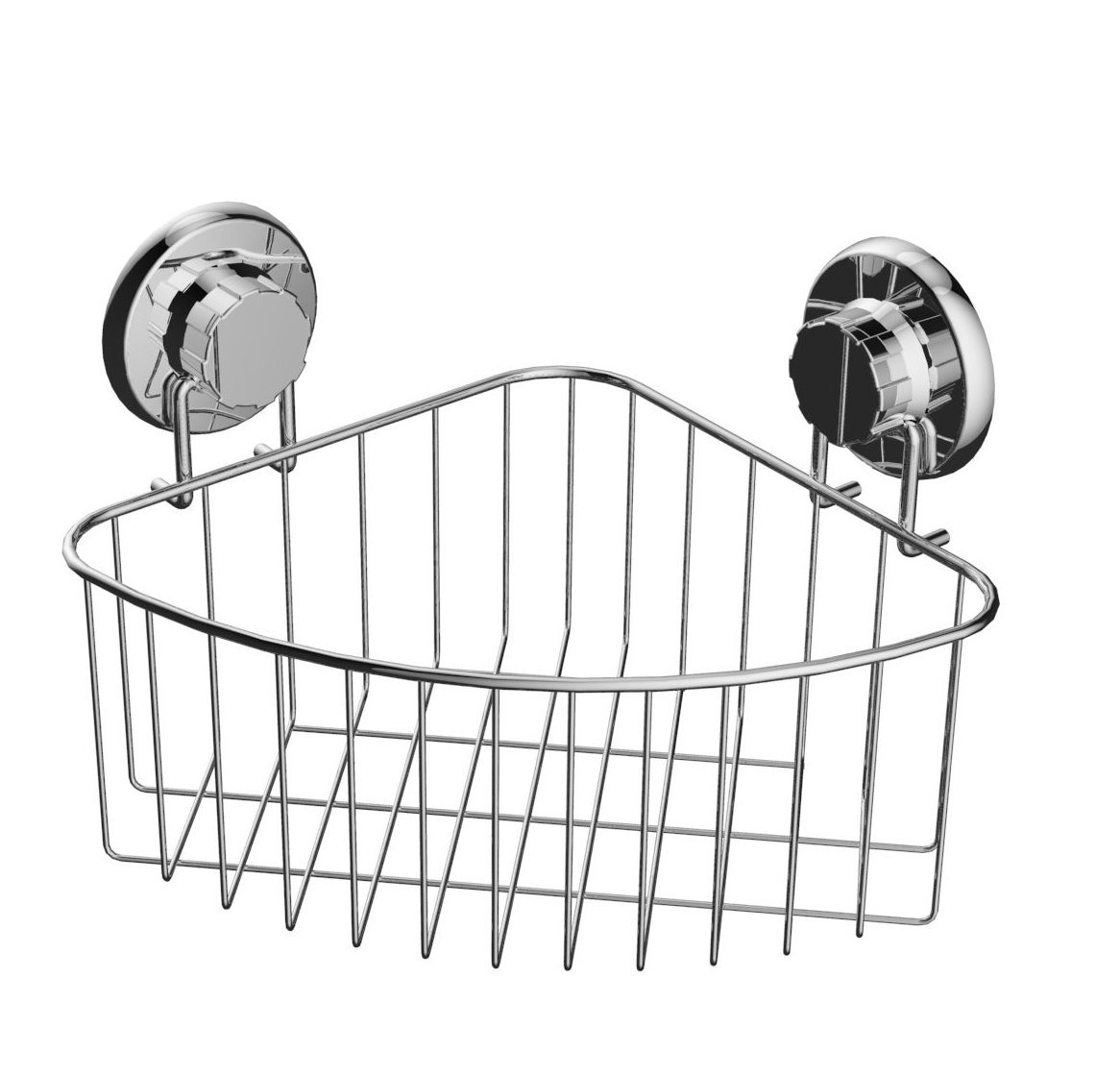 Suction Stainless Steel Corner Rack Bathroom Fitting