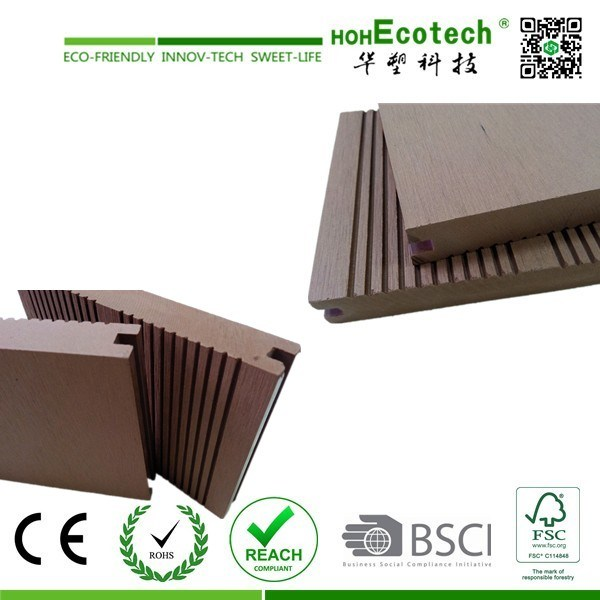 Outdoor Composite Decking Solid / WPC Crack-Resistant Decking /Good Price Wood Plastic Composite Decks