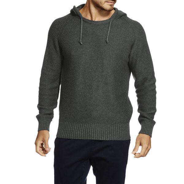 High Quality Plain Fashion Cotton Men Pullover Knit Hoodie (ZS-6041)