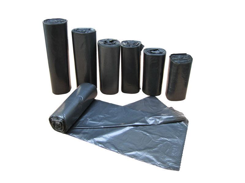 Black Garbage Bag Roll