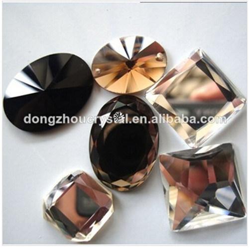 Flat Back Mirror Glass Beads