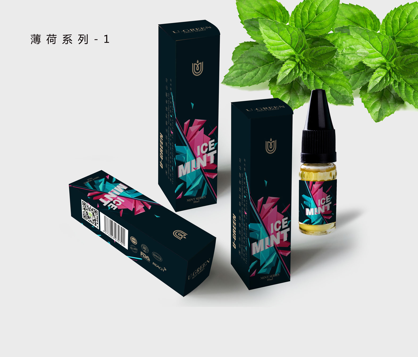 Fresh Mint Menthol Strong Mint Green Mint Doublemint Juce E-Liquid