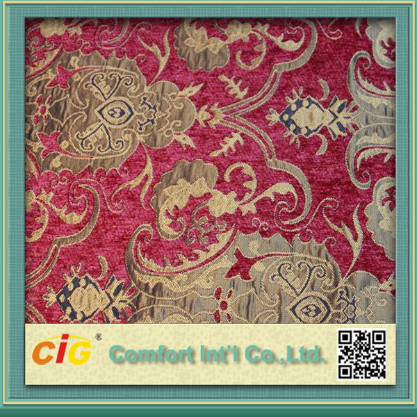 Chenille Upholstery Furniture Jacquard Fabric Home Textile 2016