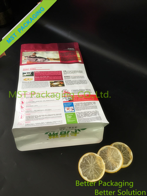 Box Pouch for Pet Food; Food Package Flat Bottom Gusseted Bag