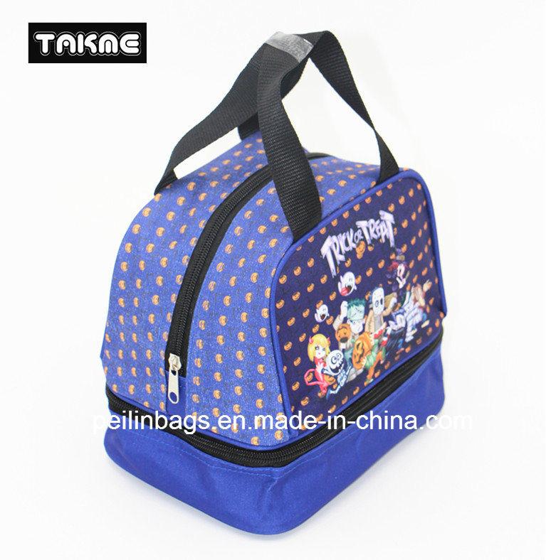 Cartoon Printing Cooler Bag Lunch Bag for Children