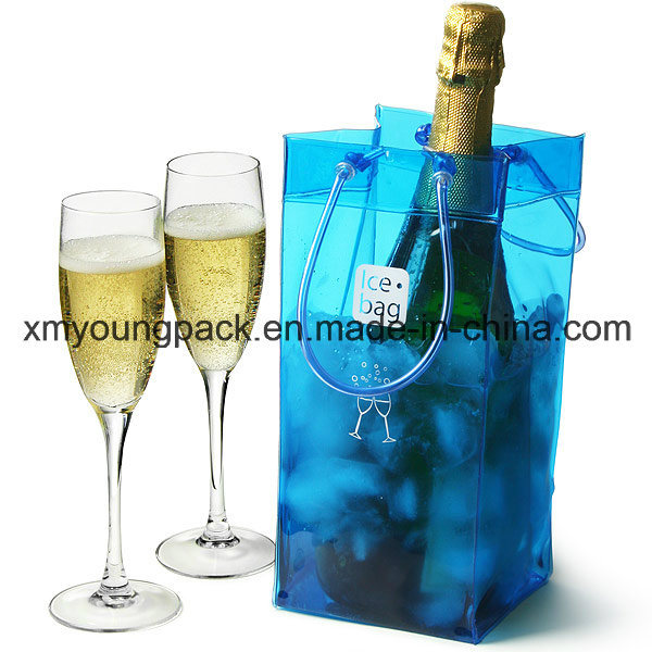 Promotional Portable Plastic PVC Beer Bottle Cooler Bag