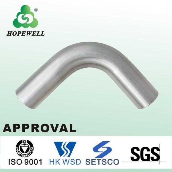 Top Quality Gunagzhou China Inox Plumbing Sanitary Stainless Steel 304 316 90 Equal Plain Elbow-C