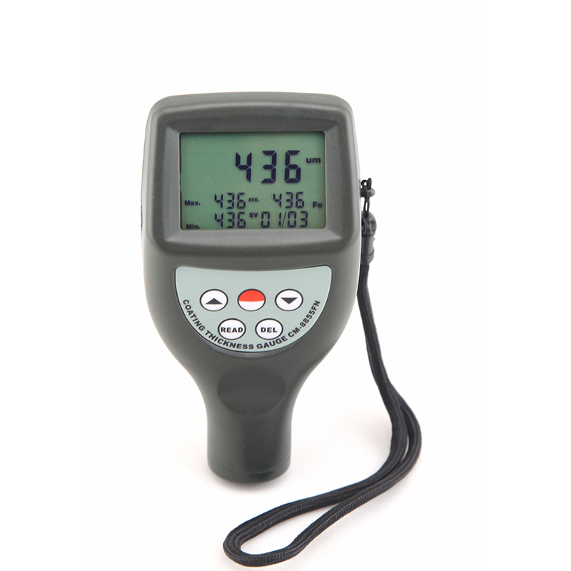 Statistical Type Build in Probe Digital Portable Chrome Coating Thickness Gauge Meter Cm8855
