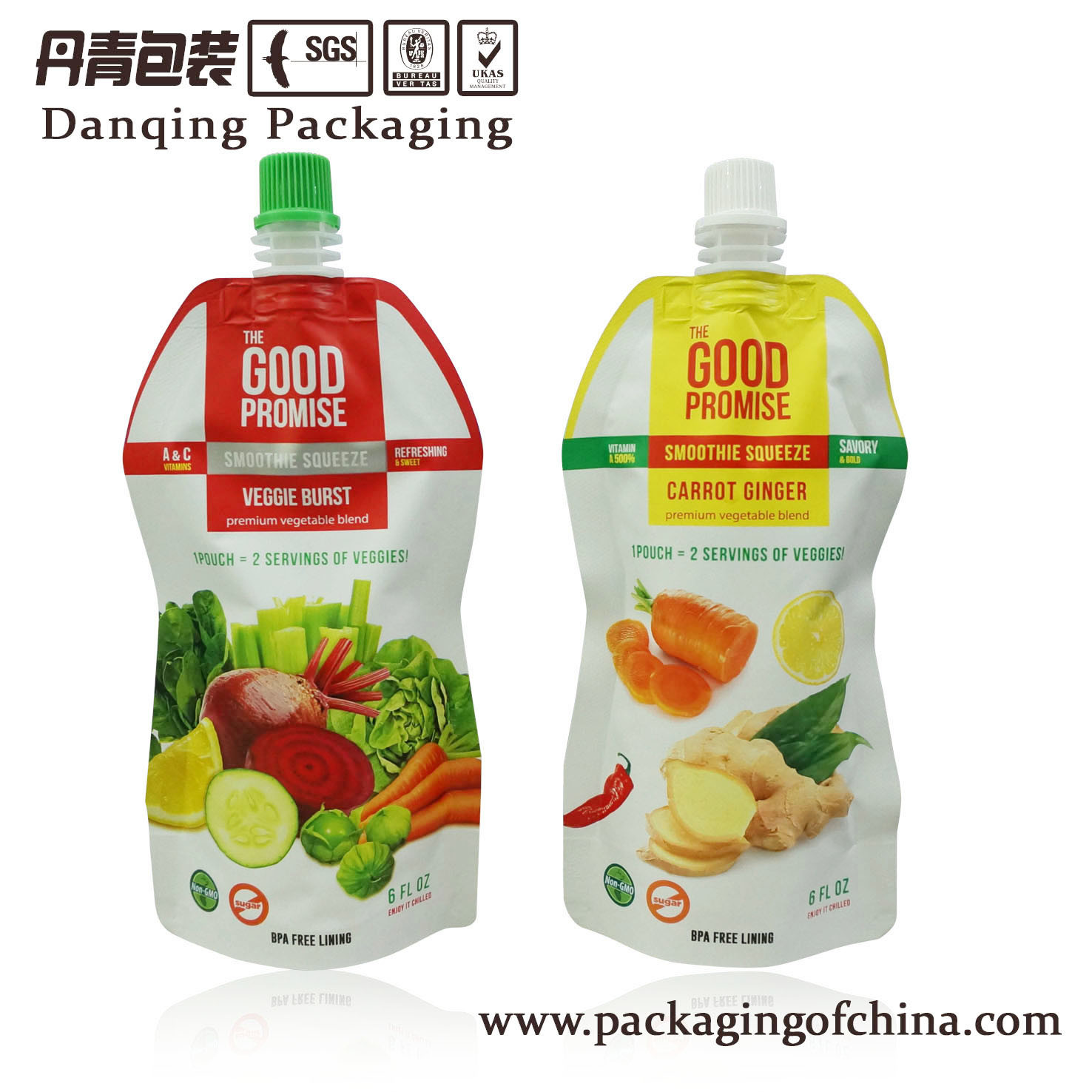 Juice Stand up Pouch with Spout Drink Packaging Bag
