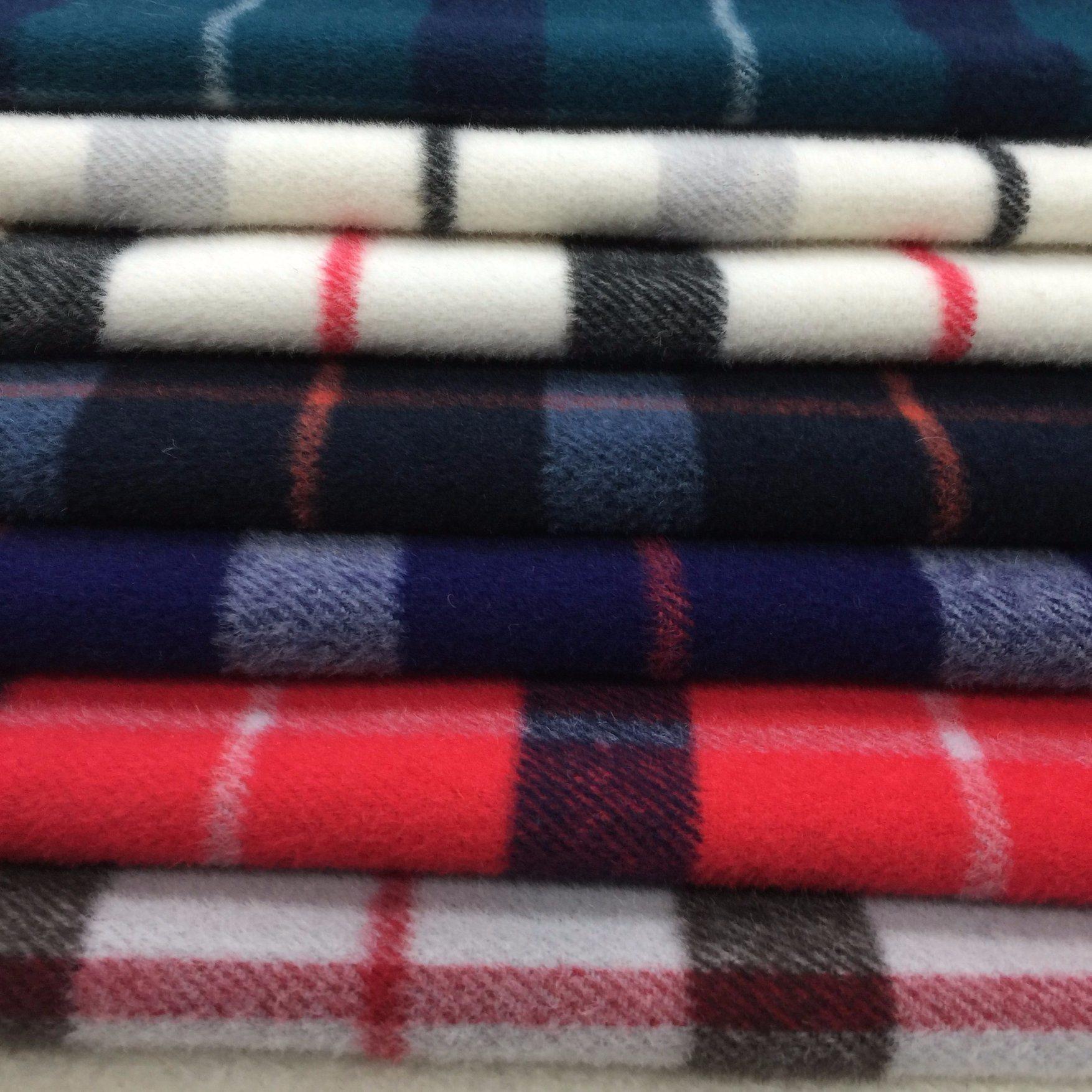 Twill Check Wool Fabric Overcoat