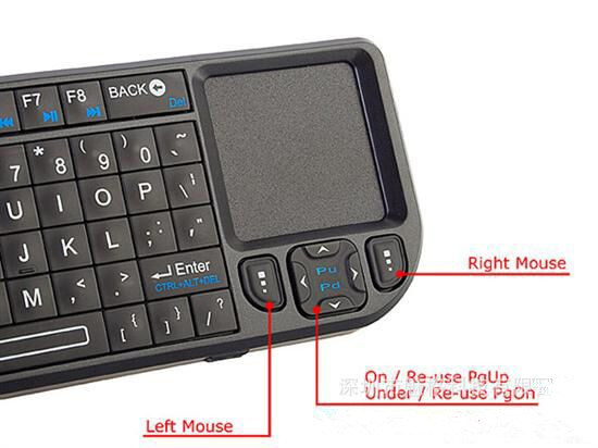Extral Small 2.4 GHz Wireless Keyboard Air Mouse Fly Mouse with Laser