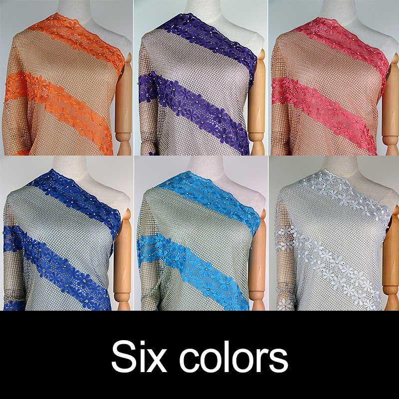 Candlace French Mesh Net Lace Fabric for Aso Ebi Party