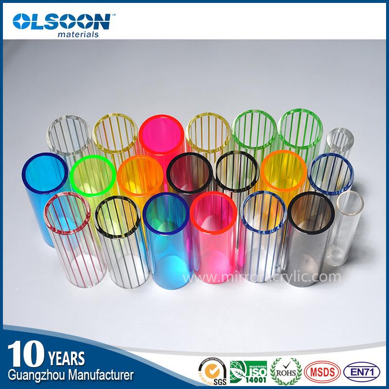 Olsoon Color Acrylic Tube/White Acrylic Tube/Transparent Acrylic Pipe
