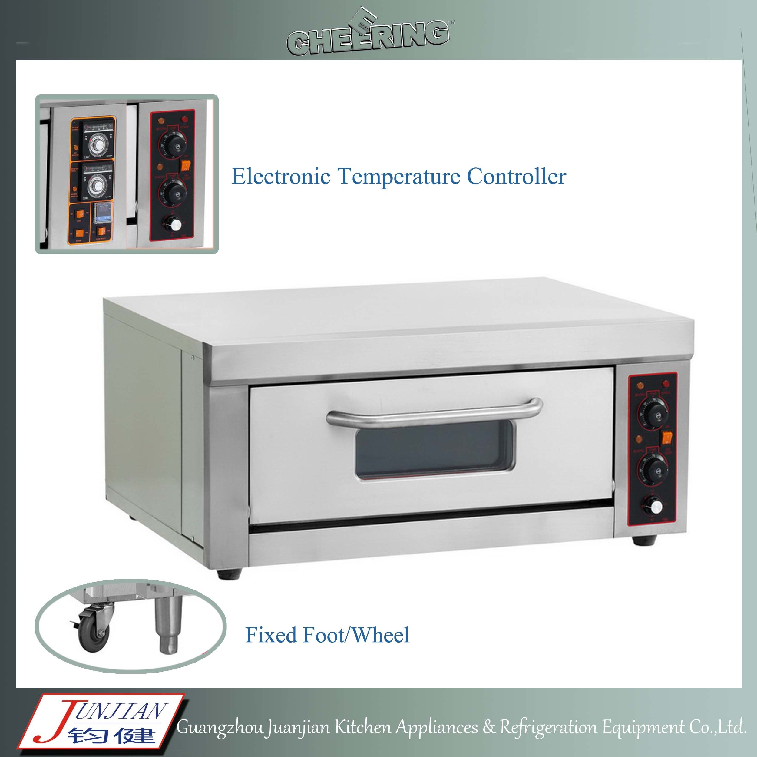 Two Deck Trays Pizza Baking Gas Oven Manufacturer