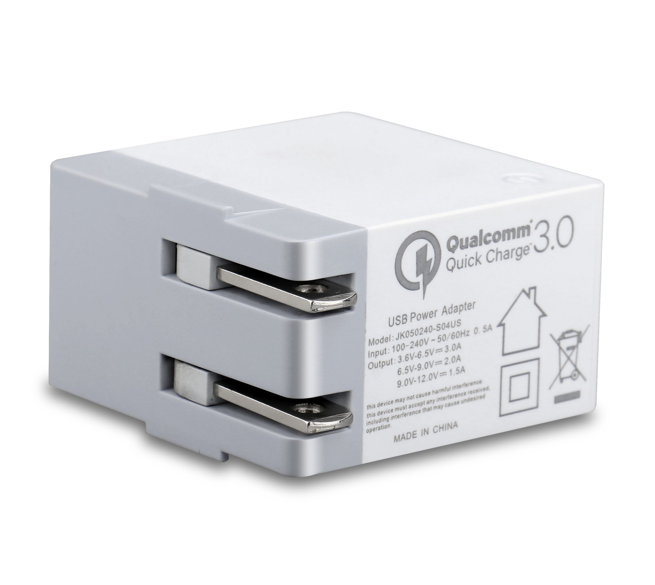 QC3.0 Quick Charging Portable USB Travel Wall Charger