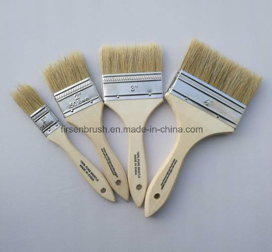 "2"" Bristle Brush Single Thick Brush with Wooden Handle"