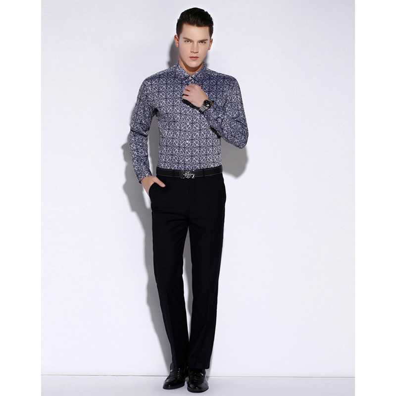 Slim Fit Formal Custom Mens Dress Shirts of Cotton