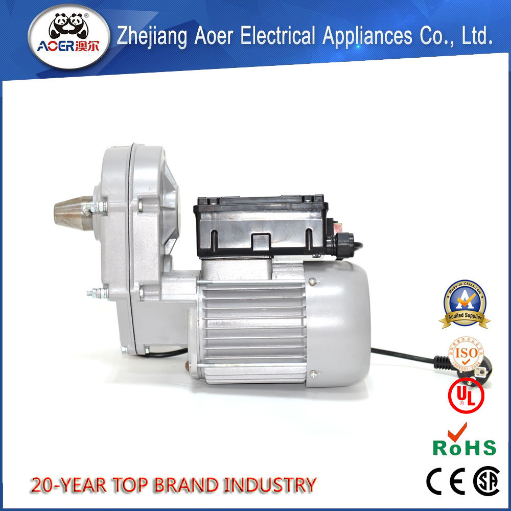 China Best Quality Supplier Single Phase 1HP AC Electric Gear Motor for Concrete Mixer