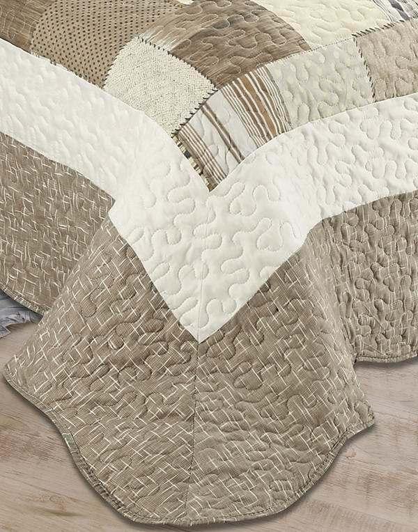 Printed 100% Microfiber Fabric Quilt/Bedding Set