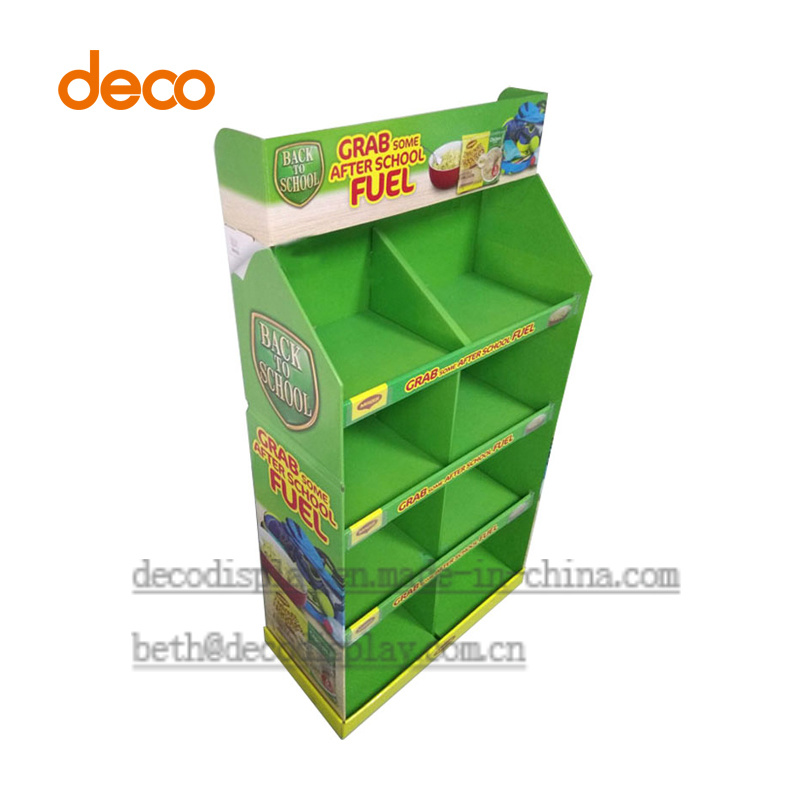 Store Display Cardbaord Paper Display Stand for Supermarket