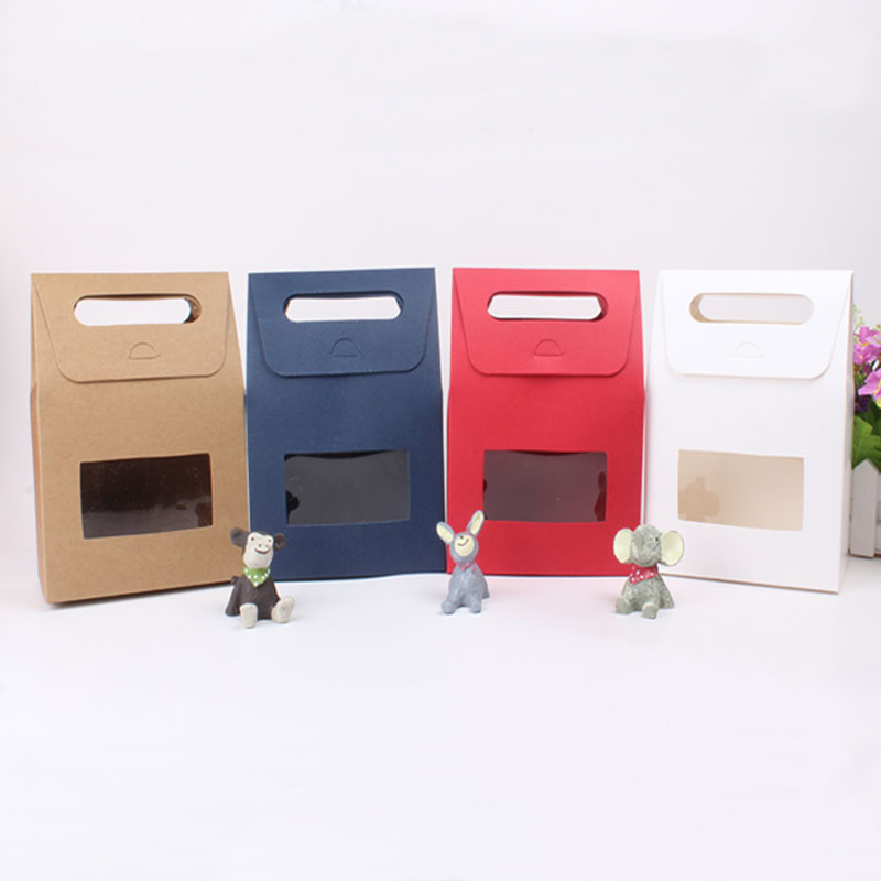 Hot Sale Fancy Kraft Gift Paper Box with Window