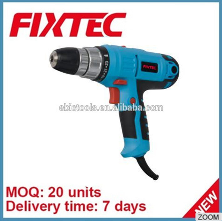 Fixtec Power Tool 300W 5m Cable Electric Torque Drill Hand Drill Bits