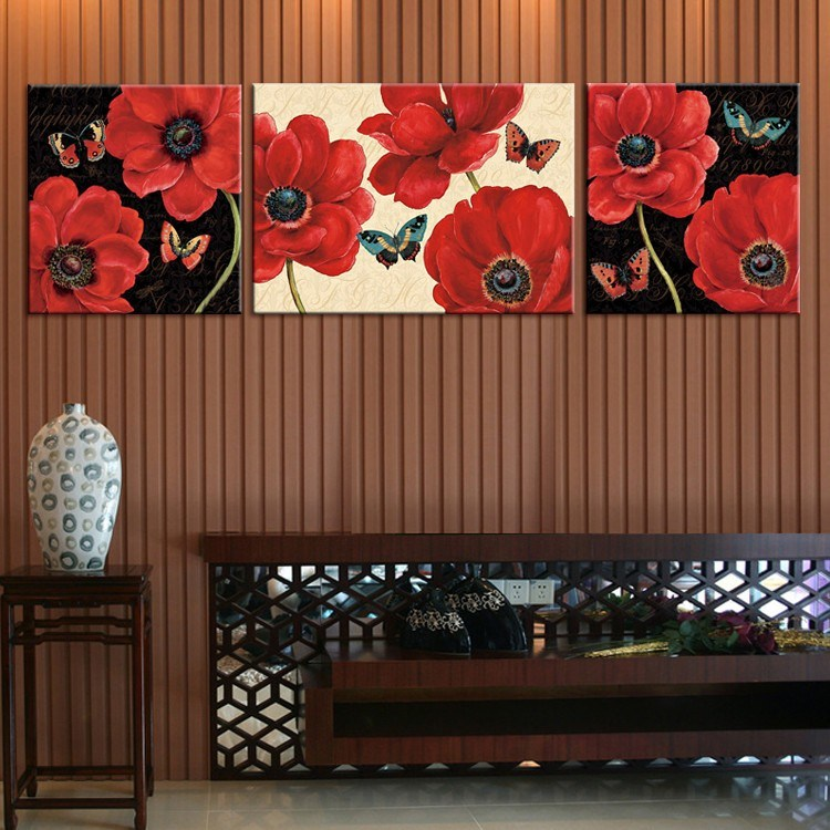 Handmade High Quality Paintings Flowers Canvas Art Wall Oil Painting