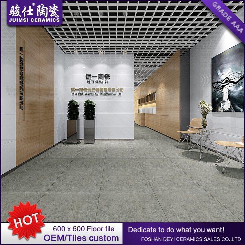 Rustic Grey Ceramic Floor Flooring Tile Bathroom/Kitchen/Living Room Price Foshan