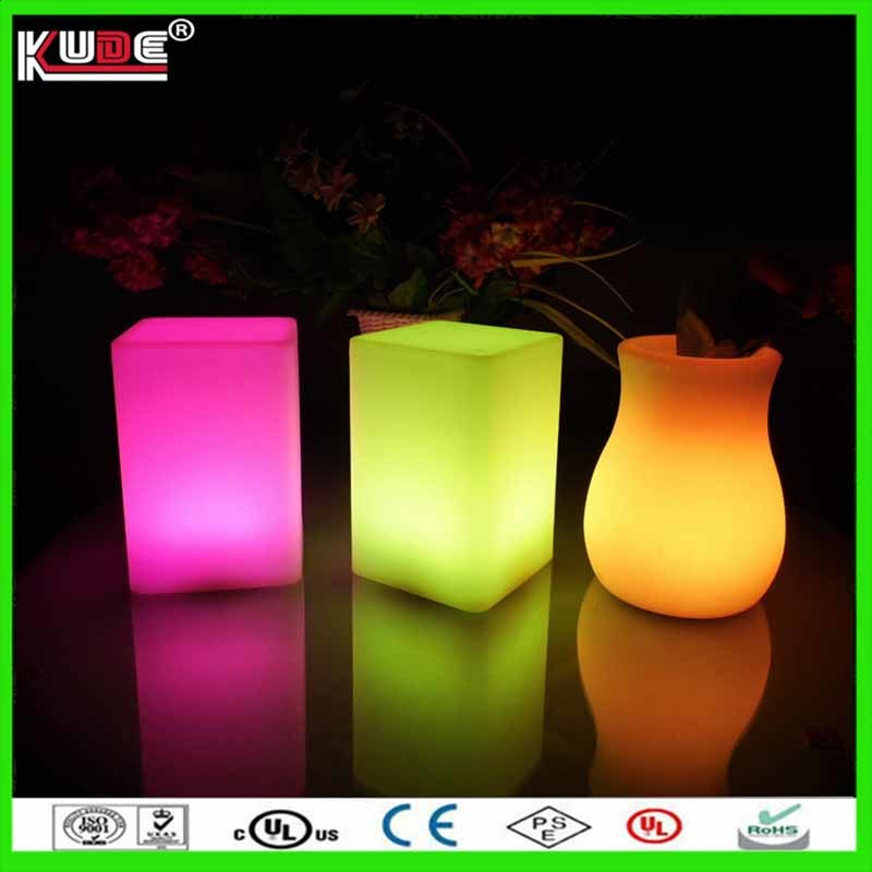 Battery Power LED Table Lamp Square Dinner Lamp