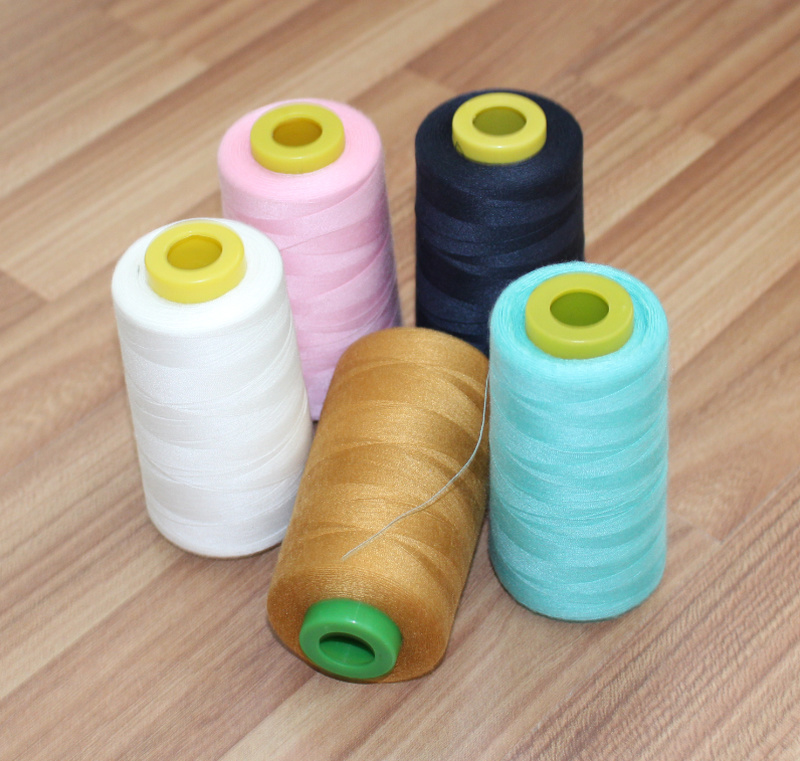 Colorful Sewing Thread of Polyester Dyed Yarn with 100% Virgin Fiber