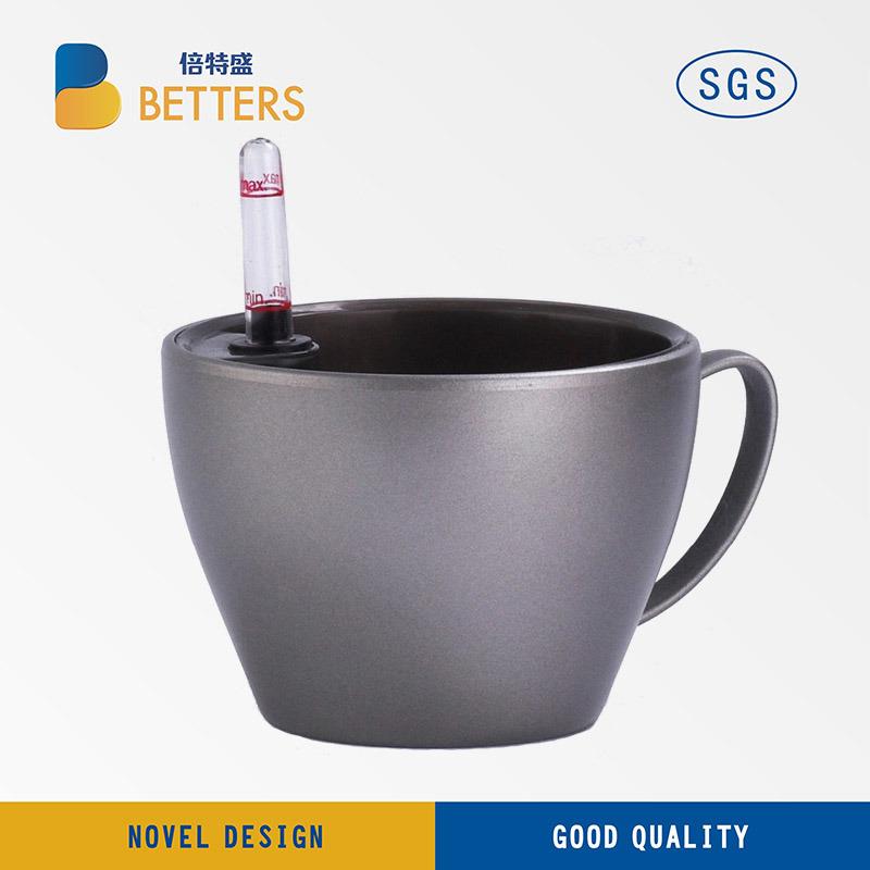 High-Grade Desktop Mini Flower Pot Texture Grey