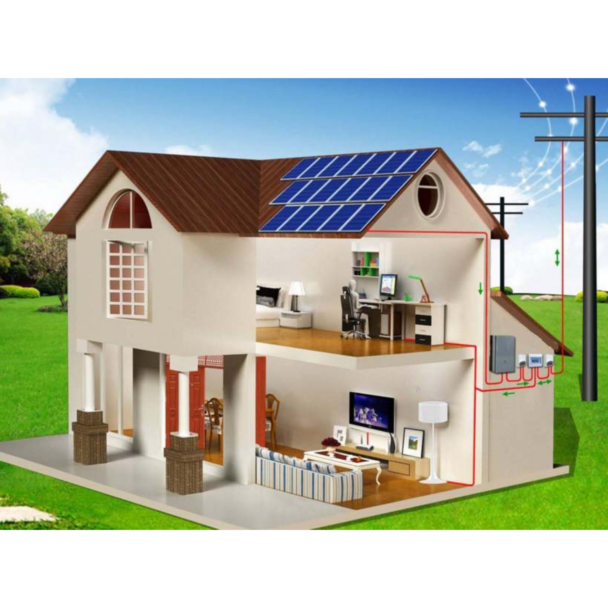 New High Quality & Efficiency Solar Panel with TUV Certificate PV Solar Green Power Less Maintenance