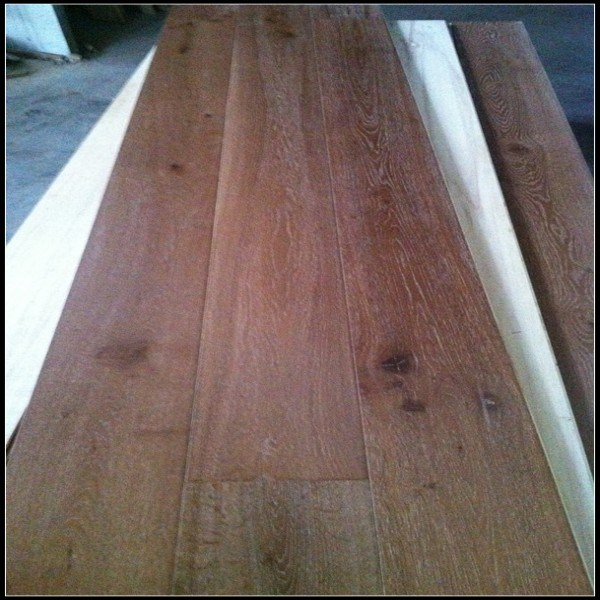Smoked&Brushed White Oiled Oak Engineered Hardwood Flooring