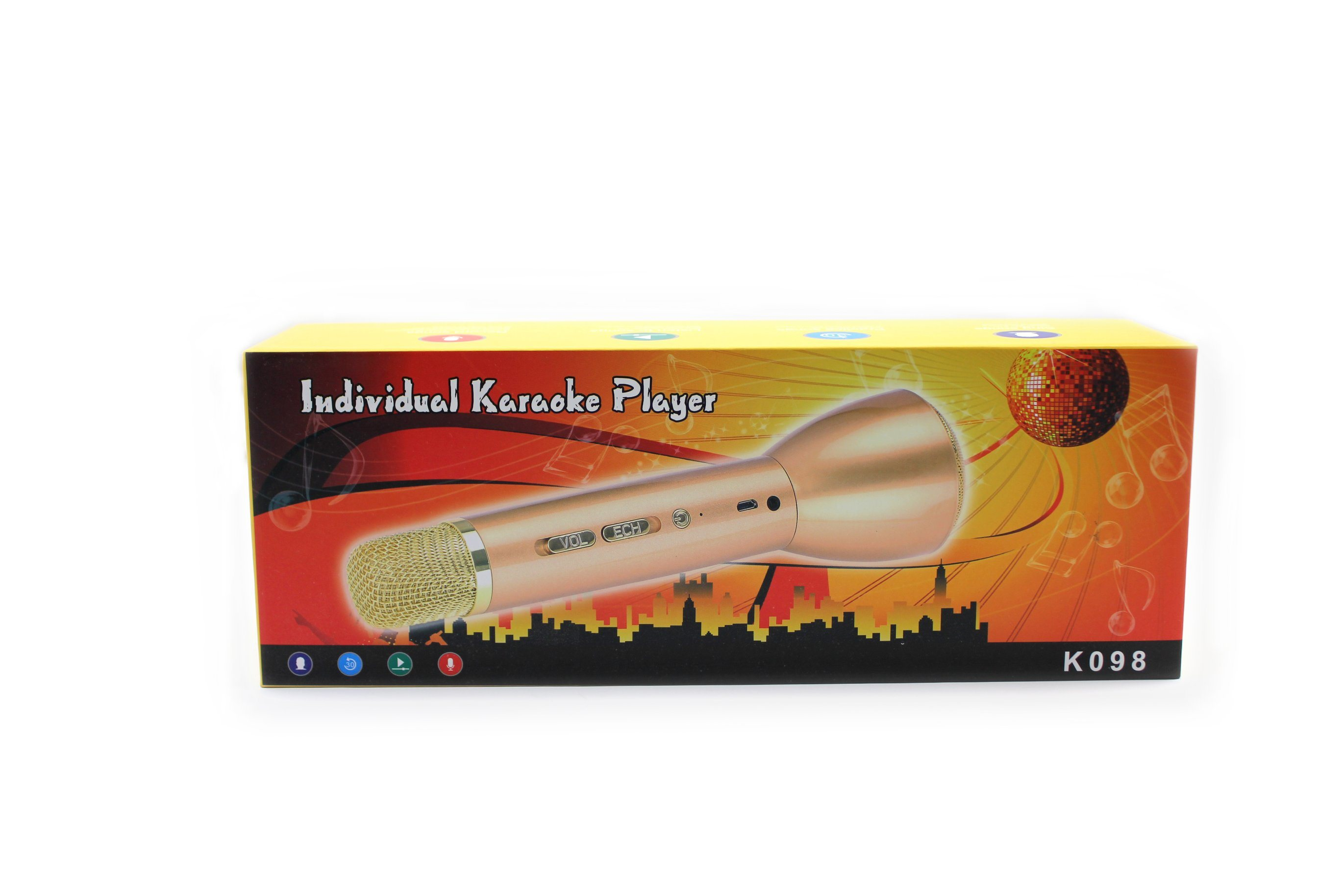 Individual Karaoke Player with Microphones simulate in KTV(Gold)