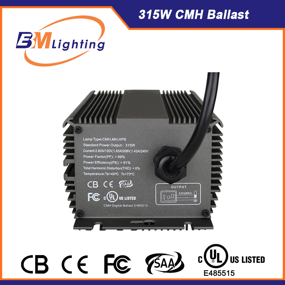 315W Dimming Grow Light Electronic CMH Ballast UL Approval