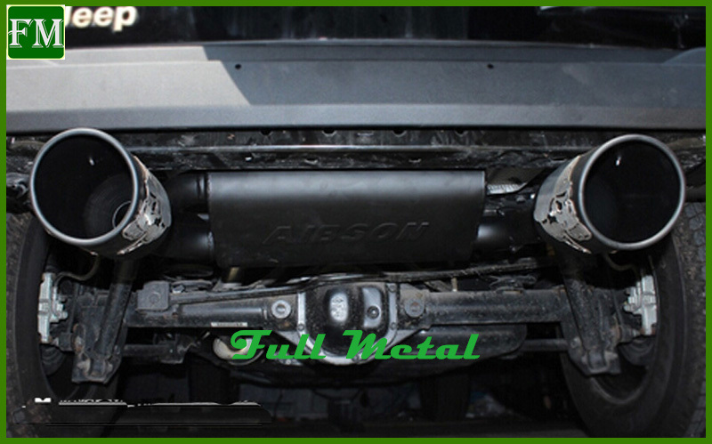 Poison Spider Exhaust Muffler with Two Pipes for Jeep 4X4 Wrangler