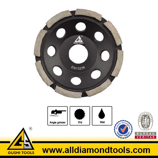 Single Row Diamond Grinding Cup Wheel