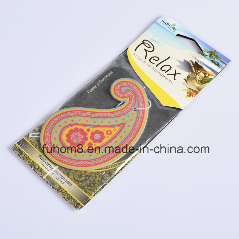 H-Quality Hanging Paper Car Air Freshener with Long Lasting Fragrance