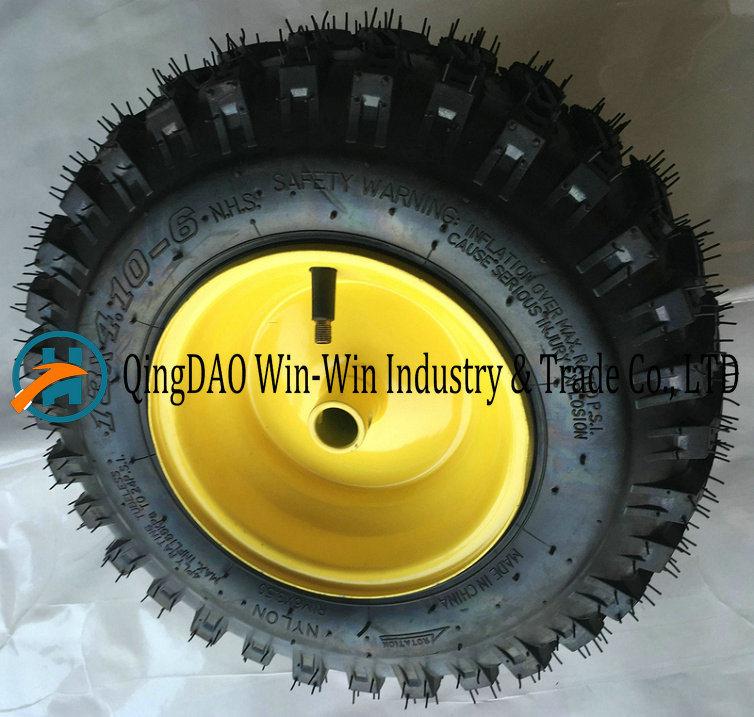 13X4.10-6 Rubber Pneumatic Wheel for Turf Lawn Mower Garden