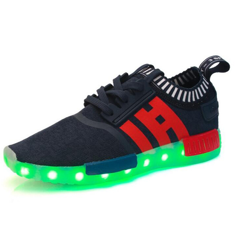 Popular PU Material Man/Woman PU Material LED Shoe