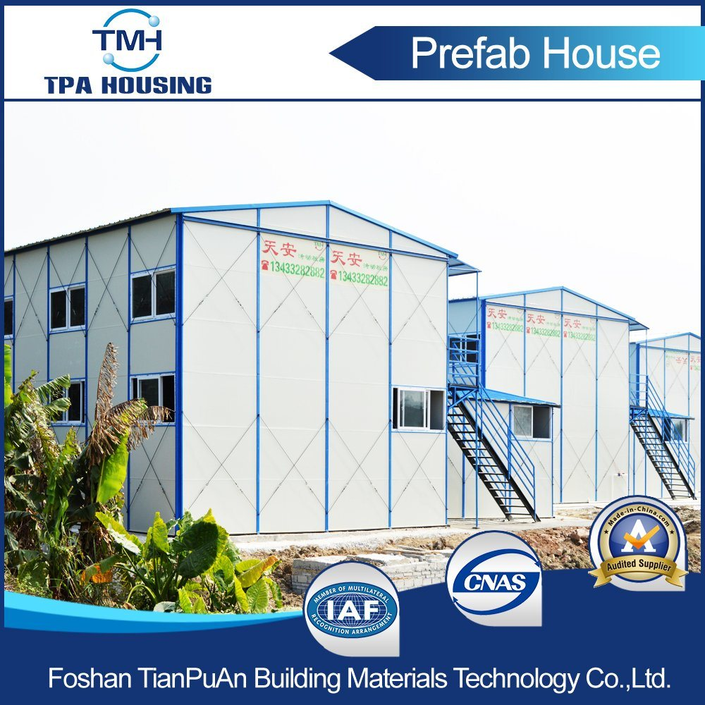 Fire Proof Sandwich Panel Steel Building Prefabricated Mobile House at Conscture Site