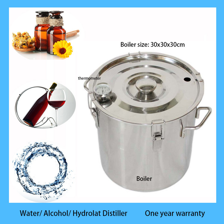 5 Gal Stainless Boiler Alcohol Moonshine Still Water Distiller Home Brew Kit with Thump Keg