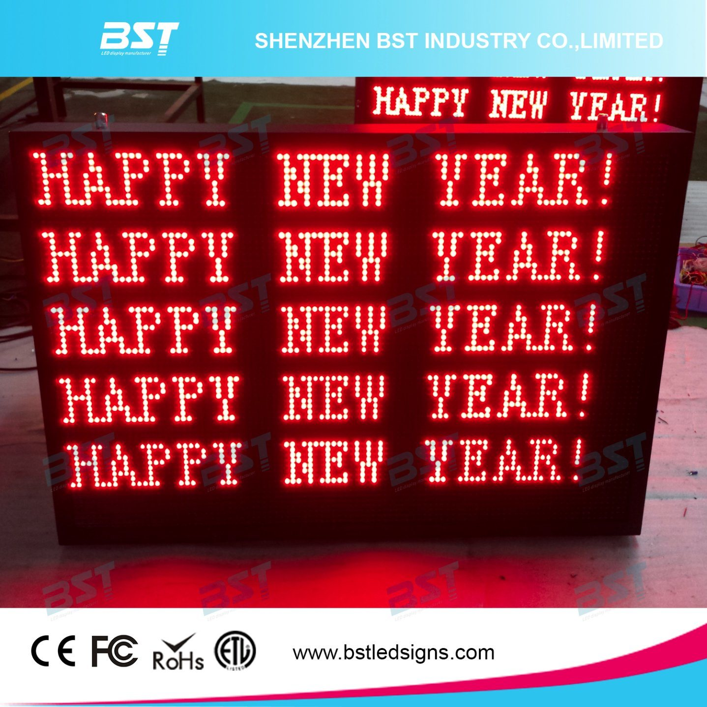 P10 Red Color Outdoor Scrolling LED Text Message Display Sign