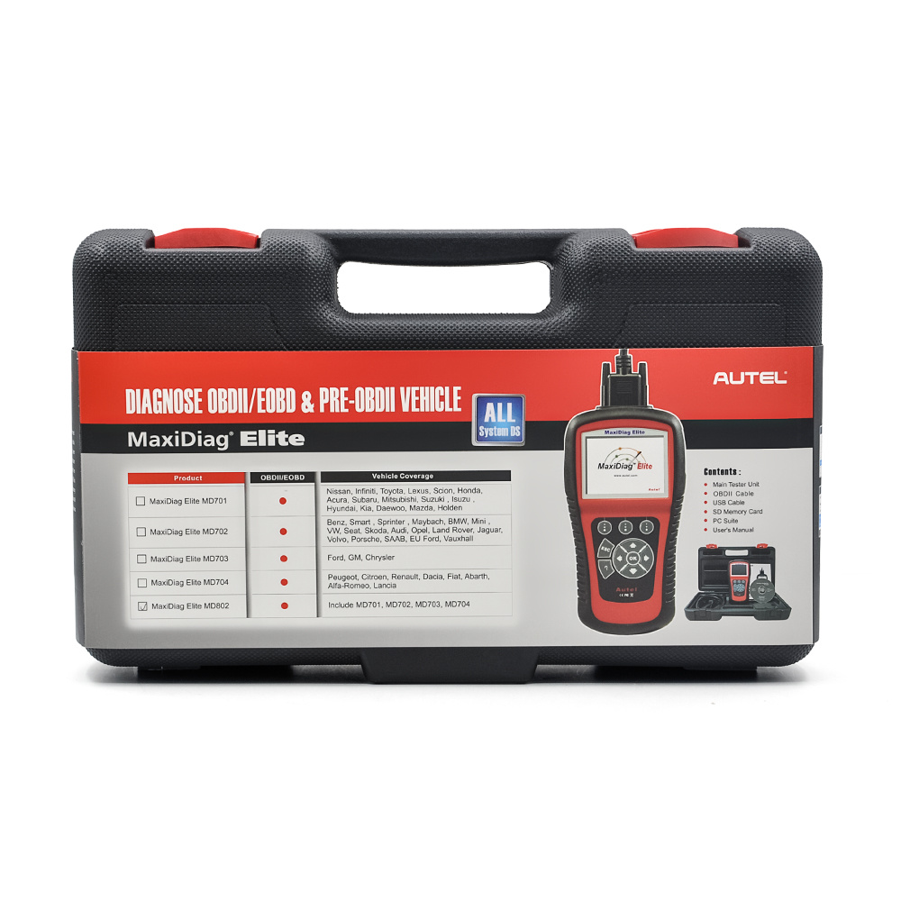 Autel Maxidiag Elite MD802 Scanner Support All System+Ds Model (MD701+MD702+MD703+MD704)