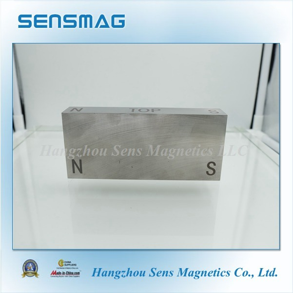 Manufacture Customized Cast Permanent AlNiCo Block Magnet for Motor