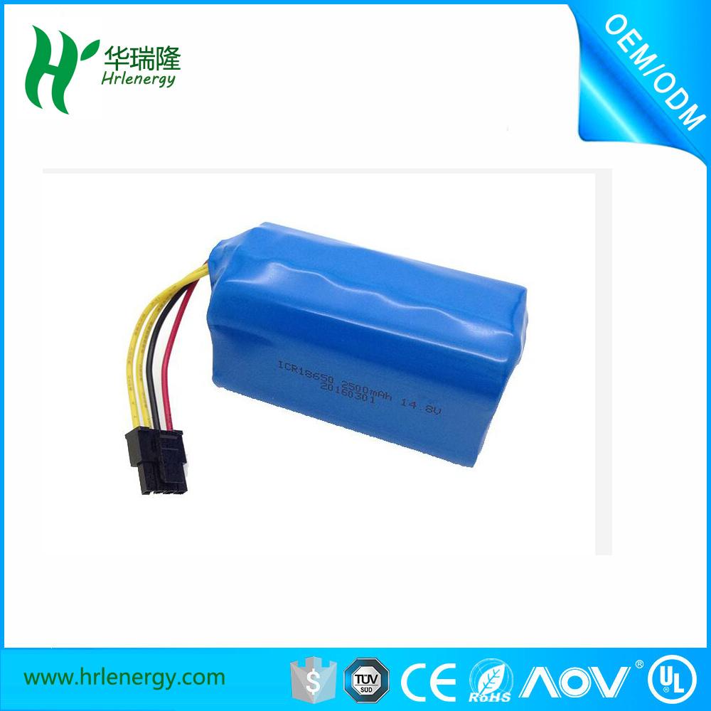 High-Energy Density, Longer Storage Life 4s 14.8V 18650 Li-ion Battery Pack 2600mAh